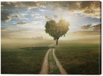 Leinwandbild Love tree