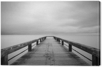 Leinwandbild Lunga esposizione in bianco e nero