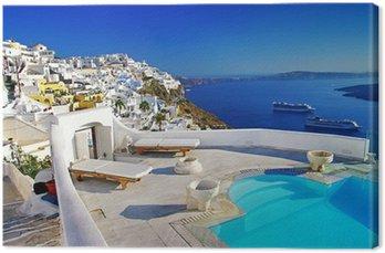 Leinwandbild Luxus-Urlaub - Santorini