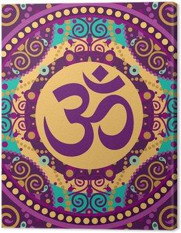 Leinwandbild Mandala Ohm