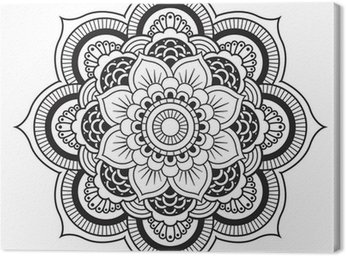 Leinwandbild Mandala. Round Ornament-Muster