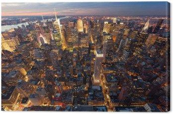 Leinwandbild Manhattan aus der Luft