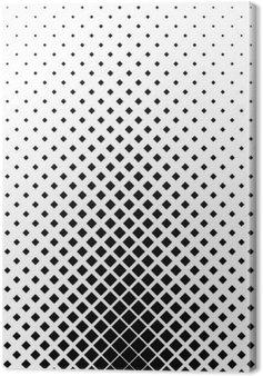 Leinwandbild Monochrome quadratische Muster Hintergrund-Design