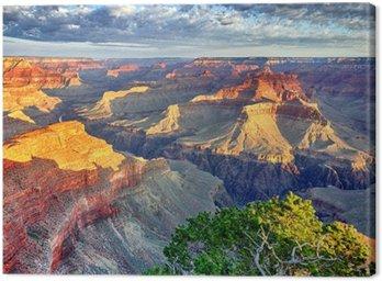 Leinwandbild Morgenstrahlen im Grand Canyon