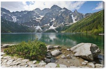 Leinwandbild Morskie Oko See in Tatra, Polen