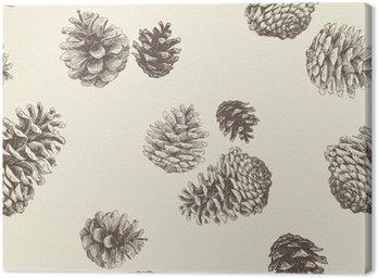 Leinwandbild Muster der Tannenzapfen