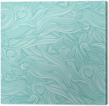 Leinwandbild Nahtlose abstrakte Muster, Gewirr gewelltes Haar Hintergrund