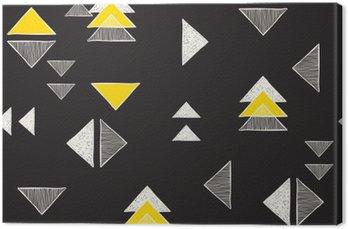 Leinwandbild Nahtlose Hand gezeichnete Dreiecke Muster.