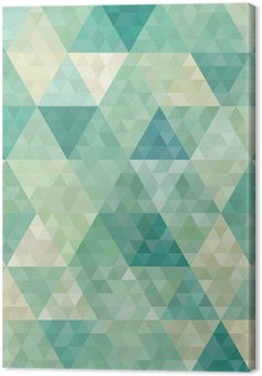 Leinwandbild Nahtlose Hintergrund mit abstrakten geometrischen Ornament