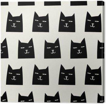 Leinwandbild Nahtlose Katze Muster