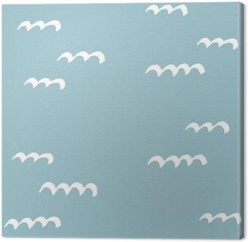 Leinwandbild Nahtlose Muster Hand gezeichnet. Muster für den Einsatz auf Packpapier, Grußkarten und Geschenkartikel
