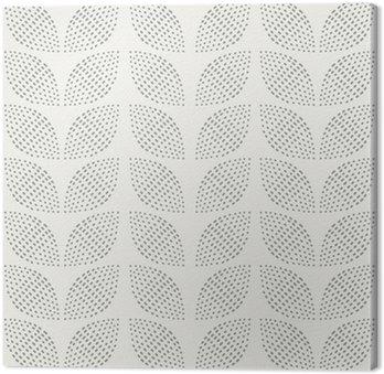 Leinwandbild Nahtlose Muster. Handgemalt. Blume. Hintergrund-Design