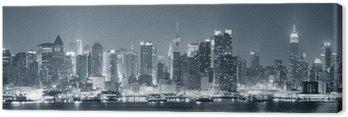 Leinwandbild New York City Manhattan schwarz und weiß