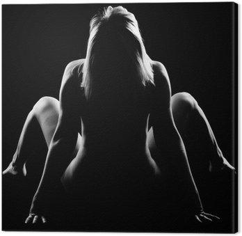 Leinwandbild Nude girl