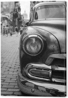 Leinwandbild Oldtimer auf kuba