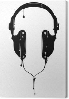 Leinwandbild Painted Kopfhörer
