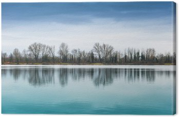 Leinwandbild Panorama lacustre