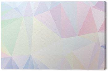 Leinwandbild Pastell Polygon Geometrische