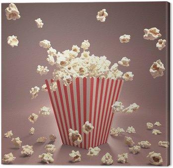 Leinwandbild Popcorn Fliegen
