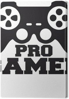 Leinwandbild Pro Gamer Logo