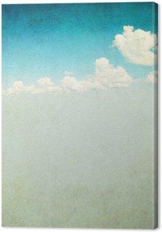 Leinwandbild Retro-Bild des bewölkten Himmel