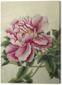 Leinwandbild Rosa Pfingstrose Blume