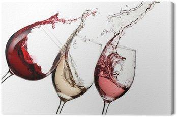 Leinwandbild Rot, Rosé-und Weißwein bis