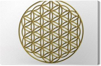 Leinwandbild Sakrale Symbol Blume des Lebens in 3D
