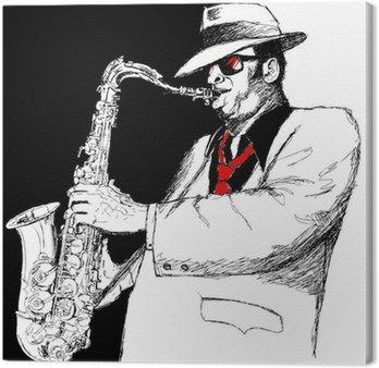 Leinwandbild Saxophonist