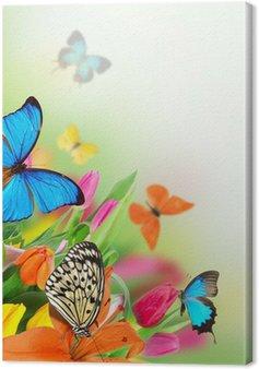 Leinwandbild Schönen Bouquet von Tulpen