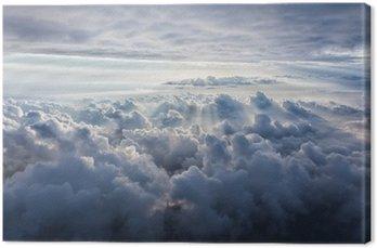 Leinwandbild Schöner blauer Himmel Hintergrund