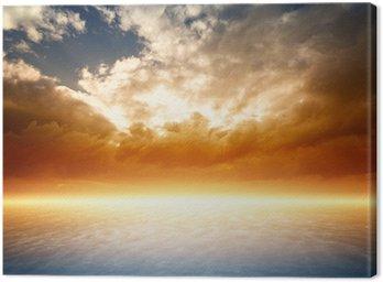 Leinwandbild Schöner Sonnenuntergang