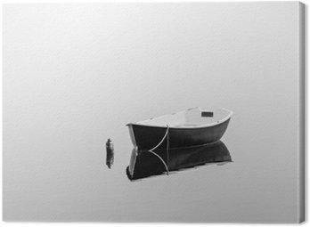 Leinwandbild Schwarz rowboat