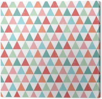 Leinwandbild seamless hipster geometric pattern bright pastel colors
