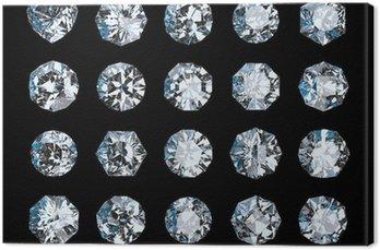 Leinwandbild Set von Diamanten