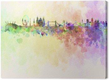 Leinwandbild Skyline von London in Aquarell-Hintergrund
