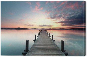 Leinwandbild Sommermorgen mit Sonnenaufgang