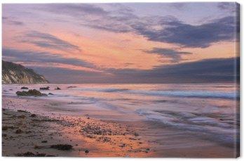 Leinwandbild Sonnenuntergang in Santa Barbara