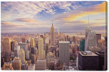 Leinwandbild Sonnenuntergang über Manhattan