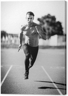 Leinwandbild Sprinter Mann