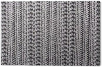 Leinwandbild Strickwolle Nahaufnahme Textur