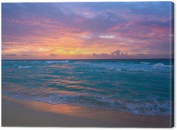 Leinwandbild Sunrise in Cancun