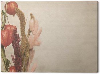 Leinwandbild Teilansicht des Physalis Pflanze. Vintage-Stil