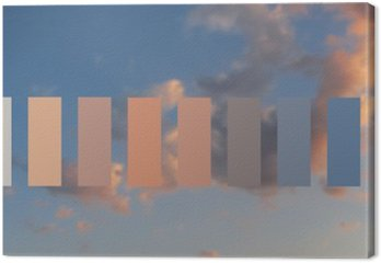 Leinwandbild Textur Himmel und Wolken bei Sonnenuntergang