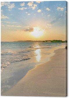 Leinwandbild Tranquil Beach Sunset