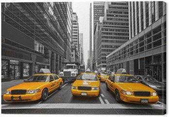 Leinwandbild TYellow Taxis in New York City, USA.