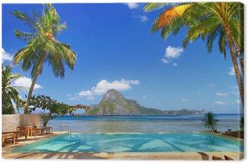Leinwandbild Urlaub im tropischen Paradies