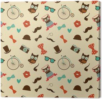 Leinwandbild Vector Doodles Hipster bunten nahtlose Muster, Hintergrund