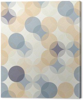 Leinwandbild Vector moderne nahtlose bunte Geometrie Muster Kreise, Farbe abstrakte geometrische Hintergrund, Tapetendruck, retro Textur, hipster Mode-Design, __