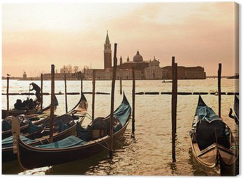 Leinwandbild Venedig, Blick auf San Giorgio stieg von San Marco.